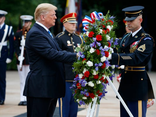 AP TRUMP MEMORIAL DAY A USA VA