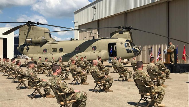 Ohio National Guard Company B, 3rd Battalion, 238th Aviation Regiment based in the North Canton area will soon depart on a yearlong overseas deployment in support of U.S. Central Command. A Call to Duty ceremony was livestreamed on Facebook Tuesday.