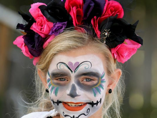 A smile on the Day of the Dead