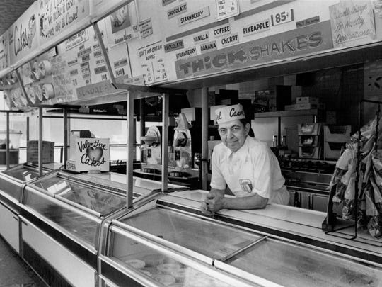 In this undated photo, Walt Silverman, who owned the Carvel Ice Cream store at East Ridge Road and Hudson Avenue in Irondequoit, stands in the store.