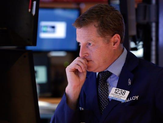 Stocks: Battered Dow tumbles back below 15,000