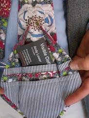 Some of Visible Clothing's men's ties have hidden pockets
