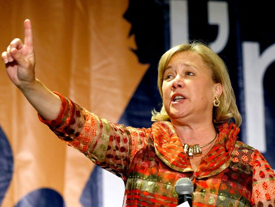 Sen. Mary Landrieu, D-La., speaks to supporters during