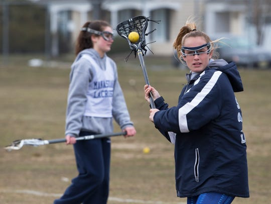 Harley Pilling at Manasquan Girls pre-season practice in Sea Girt on March 27, 2018.
