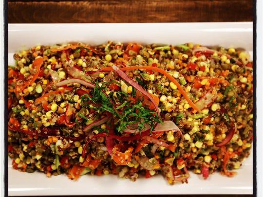 Fall Harvest Quinoa and Lentil Salad.