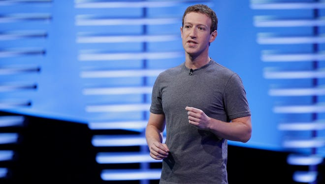 Facebook CEO Mark Zuckerberg speaking at a 2016 conference in San Francisco.