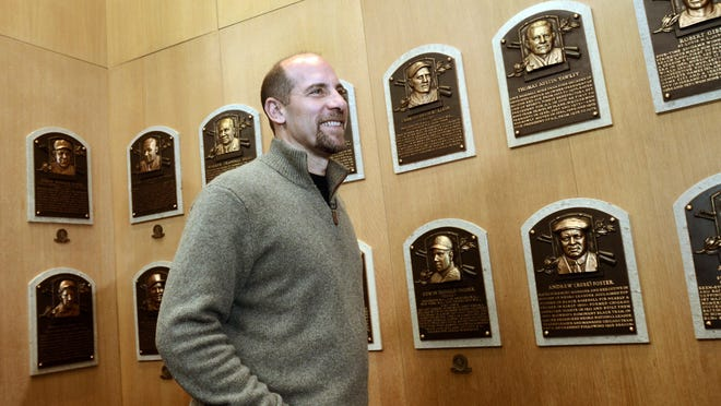 Former Atlanta Braves pitcher John Smoltz tours the gallery at the National Baseball Hall of Fame on Feb. 3 in Cooperstown, N.Y. Smoltz was elected to Hall of Fame's class of 2015 with 82.9 percent of the vote. It was his first time on the ballot.