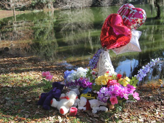 A vigil has been set up at Chapman Pond to honor the