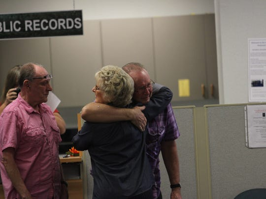 More than a dozen same-sex partners registered for marriage licenses at the Lee County Clerk of Courts on Tuesday 1/6/2014.  Three couples married at the courthouse as well.