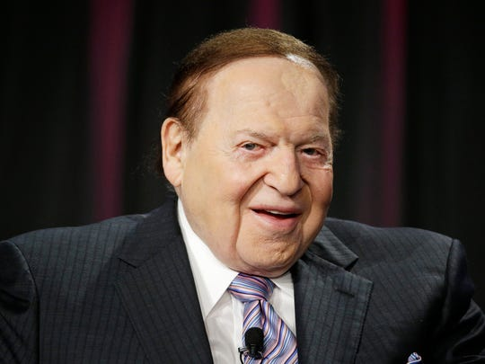 In this photo taken Oct. 1, 2014, Las Vegas Sands Corp. CEO Sheldon Adelson speaks in Las Vegas. In the year that will pass before the 2016 campaign for president formally kicks off with the votes in the Iowa Caucus, any number of candidates, donors, political operatives _ and people who have nothing to do with American politics _ will shape the race for the White House. (AP Photo/John Locher)
