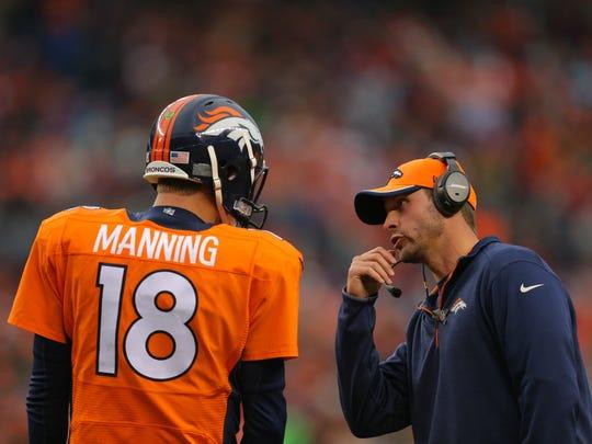 DENVER, CO - NOVEMBER 23:  Denver Broncos offensive