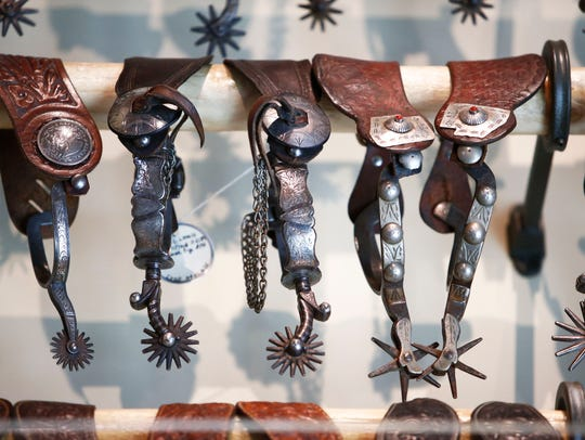 Collection of Texas spurs at Scottsdale Museum of the