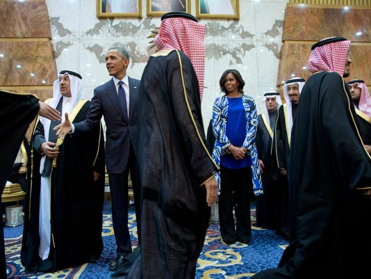 Michelle Obama in Saudi Arabia
