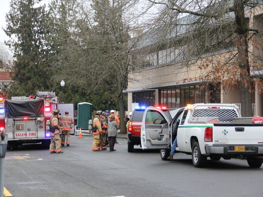 The General Services building located in the 1200 block of Ferry Street NE was evacuated Wednesday morning due to reports of a natural gas leak.