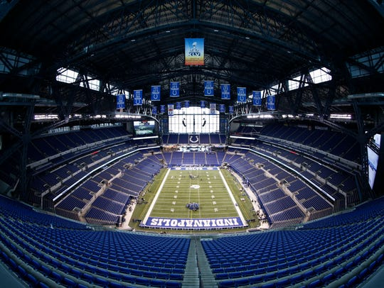 Lucas Oil Stadium is home to the annual NFL Scouting