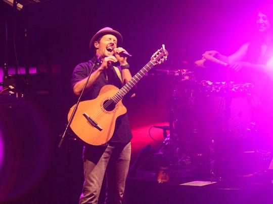 An acoustic evening with Jason Mraz and Raining Jane made it's stop at Bellco Theatre 3/12/15.