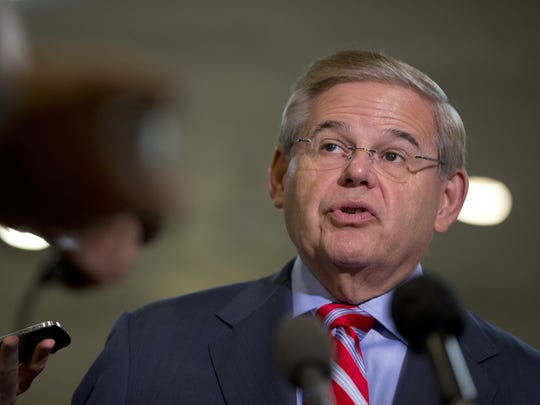 Associated Press Senate Foreign Relation Committee Chairman Sen. Robert Menendez, D-N.J., expects to move forward next month with a measure to give President Barack Obama additional authority to fight the jihadist Islamic State. Robert Menendez Senate Foreign Relation Committee Chairman Sen. Robert Menendez, D-N.J. talks to reporters on Capitol Hill in Washington, Wednesday, Sept. 4, 2013, before a closed-door committee meeting on the authorization of the use of force in Syria. (AP Photo/Carolyn Kaster)