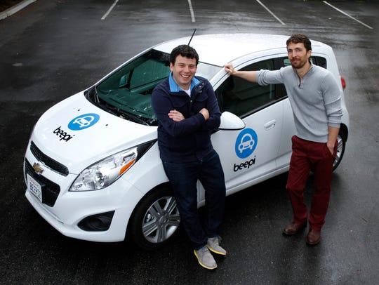 Beepi founders Alejandro Resnik, left, and Owen Savir.