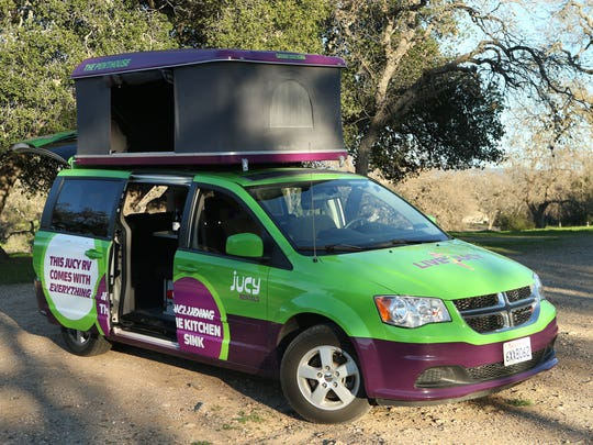 Once the Jucy campervan is parked at  the evening's
