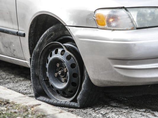 IndyStar stock pothole stock potholes stock flat tire