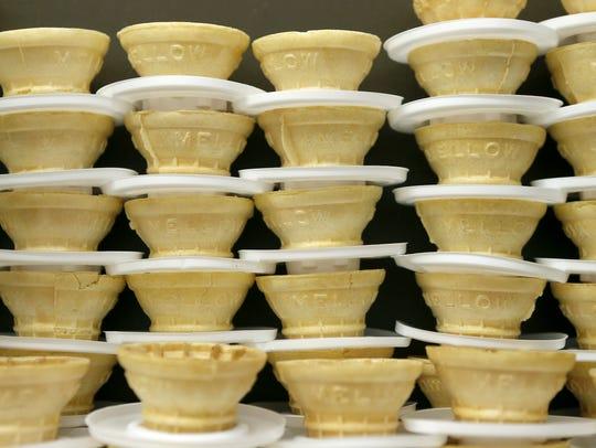 Cones at LuGia's Ice Cream.