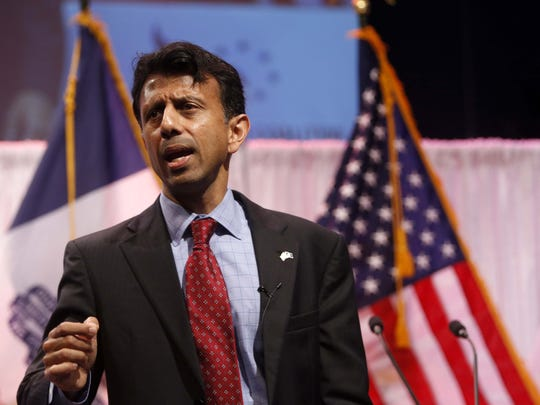 Louisiana Gov. Bobby Jindal speaks Saturday, April 25, 2015 at the Faith & Freedom Coalition Spring Kick Off at Point of Grace Church in Waukee.