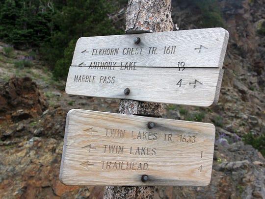 The Elkhorn Crest Trail tightropes across the Elkhorn