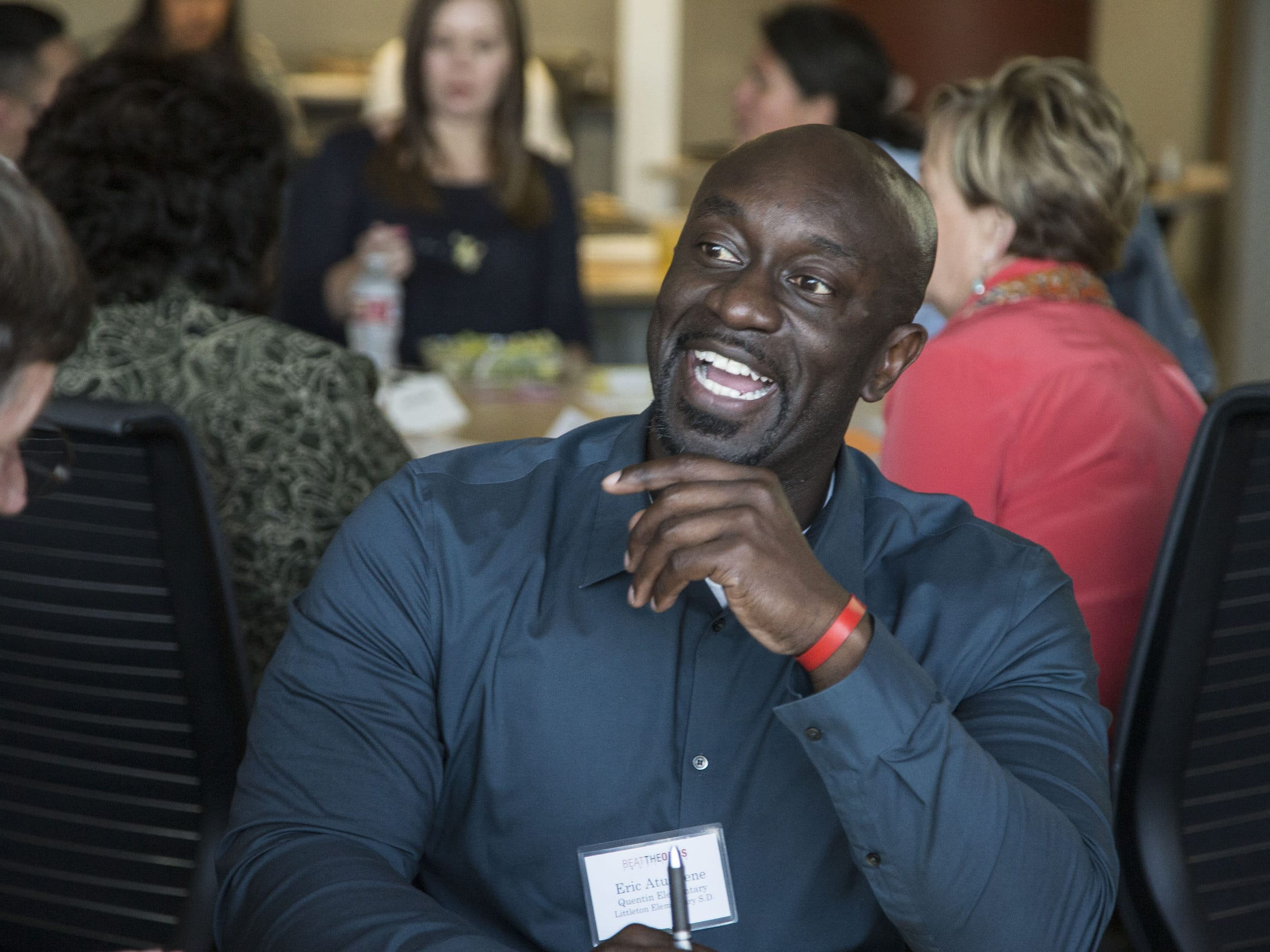 """As a minority, Principal Eric Atuahene considers himself a role model for his students. """"I believe that they can connect with me and see that all things are possible,"""" he says."""