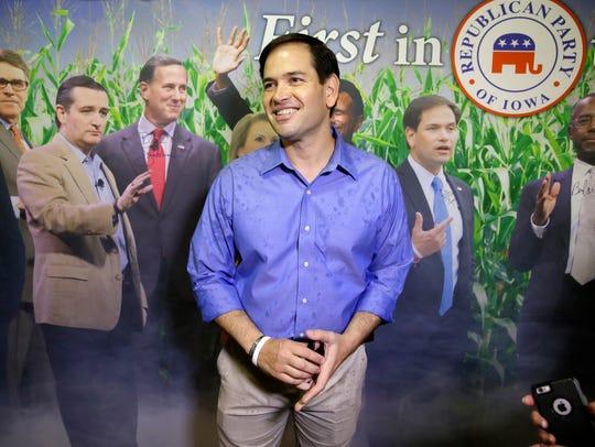 Sen. Marco Rubio, R-Fla., visits the Republican Party