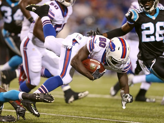 Bills Deonte Thompson  hopes to make the team as a receiver.