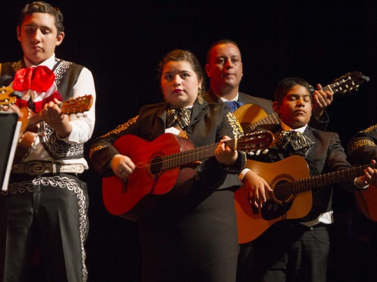 Students involved in a Mariachi Workshop from C.A.L.L.E