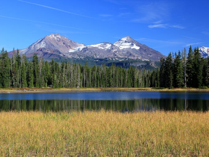 Views of the Three Sisters at Scott Lake Campground