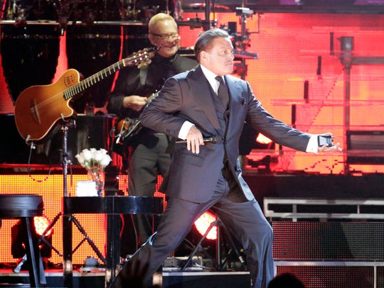 Luis Miguel performed at the Don Haskins Center Tuesday