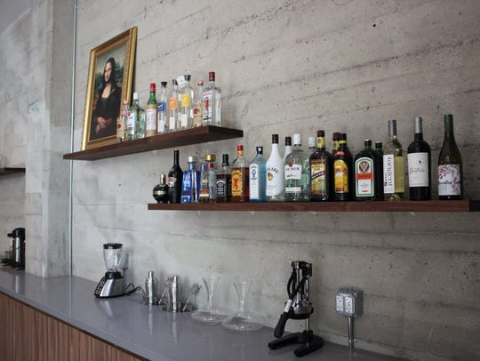 The office bar at Ticketfly in San Francisco.