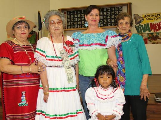 Front, Mailen Parra. Back: Bertha Rodriguez, left to