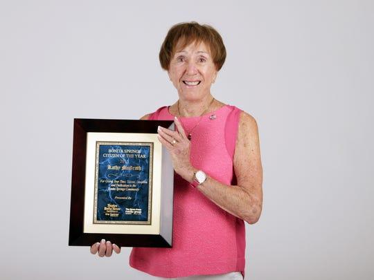 Kathy McGrath , honored as the Bonita Springs Area