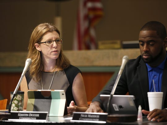 County Commissioner Kristen Dozier intends to remain on the Commission