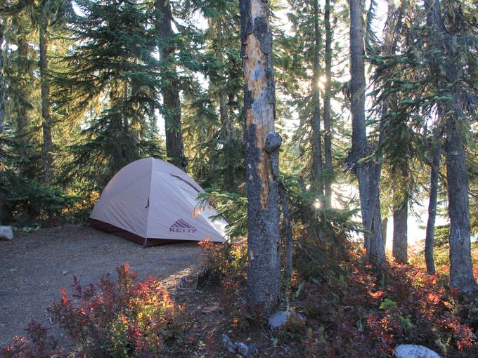 A camping spot is seen on Berry Island on Summit Lake.