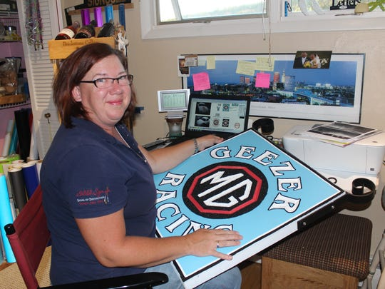 Sharon Wild is the owner of A Wild Sign Co. in Owego.