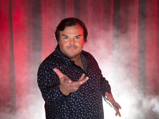 Jack Black embraces the creep during a photo shoot