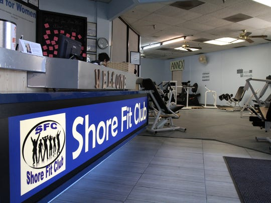 The lobby area of Shore Fit Club and Spa in Oakhurst, NJ Monday October 19, 2015.