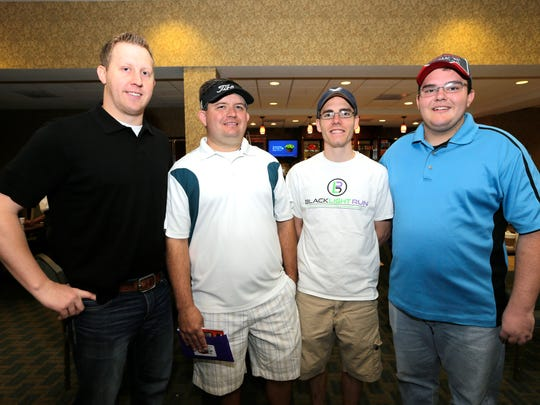 Brad Kuykendall, left to right, David Adams, Colton Palmer and Canden Jester.