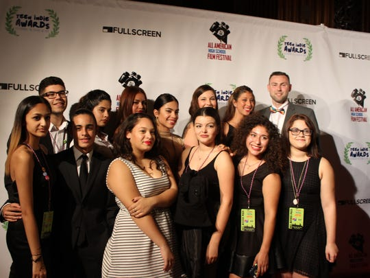 Students walked the red carpet prior to the 2015 Teen