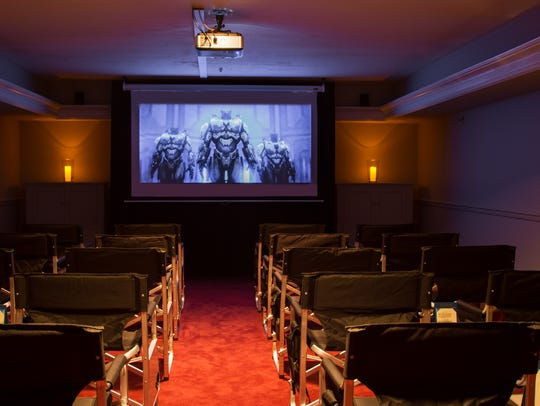 A 20-seat theater has been set up at the Audubon Inn