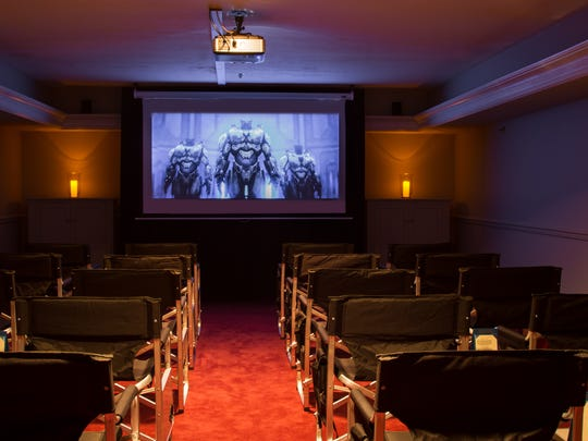 A 20-seat theater has been set up at the Audubon Inn in Mayville.