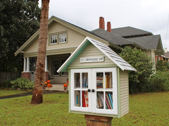 A Little Free Library near the intersection of East