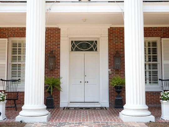 The door to the Governor's Mansion.