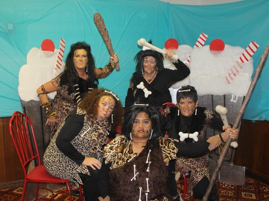 The Clubbing Cavewomen won the costume contest at the Girlfiend's Getaway in Lexington.