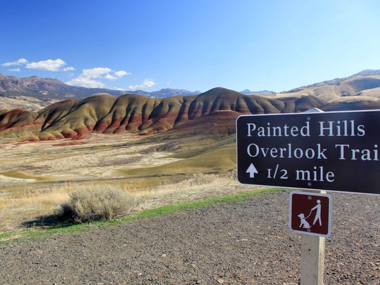 A view of the Painted Hills, a unit of the John Day