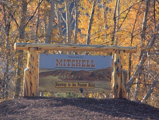Entry to Mitchell, Oregon.